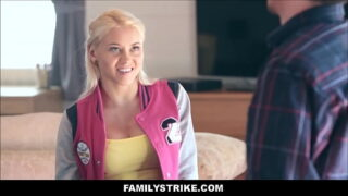 Teen Step Daughter Marsha May And Her Stepdad Play Strip Pool